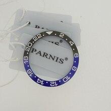 38 Mm Keramische Bezel Insert Voor 40 Mm Gmt Horloge Oiginal Keramische Red & Black Bezel Insert Voor Parnis 40mm Automatische Horloge PA2105