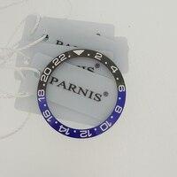 38mm ceramiczna ramka szkiełka zegarka wkładka do 40mm GMT zegarek Oiginal ceramiczna czerwona i czarna ramka wkładka do Parnis 40mm automatyczny zegarek PA2105