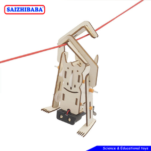 Saizhibaba DIY Electric Robot Rope Climbing Kids Science Discovery Toys STEM Education Physics Experiment Kit School Project