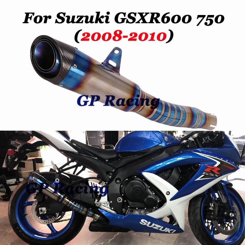 for suzuki gsxr600 gsxr750 2008 2010 k8 k9 k10 motorcycle gp exhaust muffler titanium alloy exhaust escape moto