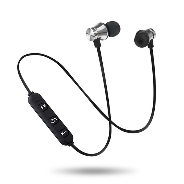 Magnetic Attraction Bluetooth Earphone Headset Sweatproof Sport Earbuds with Charging Cable Young Earphone Build-in Mic F2C368 3