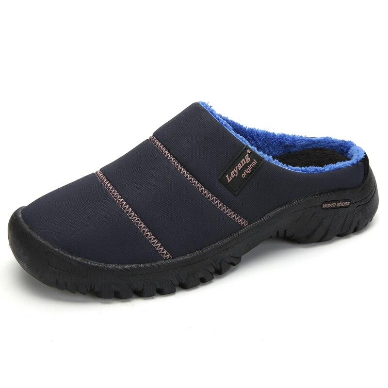 Winter Home Slippers Mens Shoes Antislip Flip Flops House Shoes Fur Slides Outdoor Slip-On Mules Massage Slippers Pantuflas