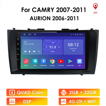 89 Android 10 For Toyota Camry 40 50 2007 2008 2009 2010 2011 Car Multimedia Autoradio Stereo GPS Navigation Player DAB+ DVR image