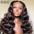 30 32 40 дюймов бразильский Свободный парик с глубокой волной HD прозрачные 13x6 кружевные передние человеческие волосы парики для черных женщин ...