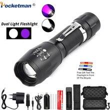 Portable UV Flashlight Black Light 2 in 1 LED flashlight Ultraviolet LED Blacklight Urine Detector for Cats,Pet Stains,Scorpions