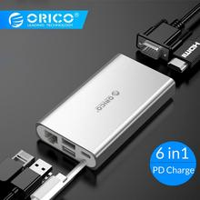 ORICO USB HUB Type C HUB To USB 3.0 Type-C HDMI PD Adapter For Macbox Docking Station 4K 5Gbps High Speed USB C HUB цена и фото