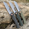 TUNAFIRE one D2 Blade High-end linen Handle Camping Hunting Folding Knife Outdoor Pocket Survival edc Knife 1