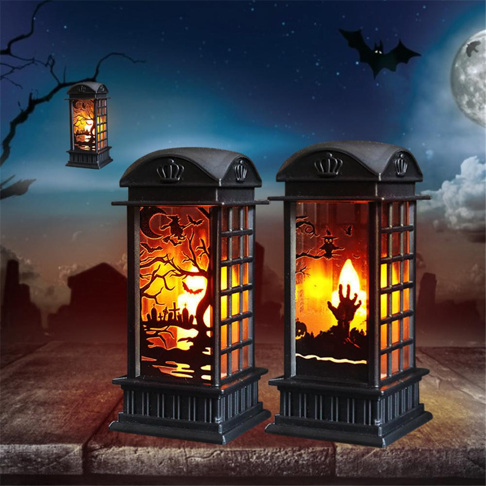 Halloween 2020 Burning House Halloween Lantern Lights Ornament 2020 Halloween Party Decor For