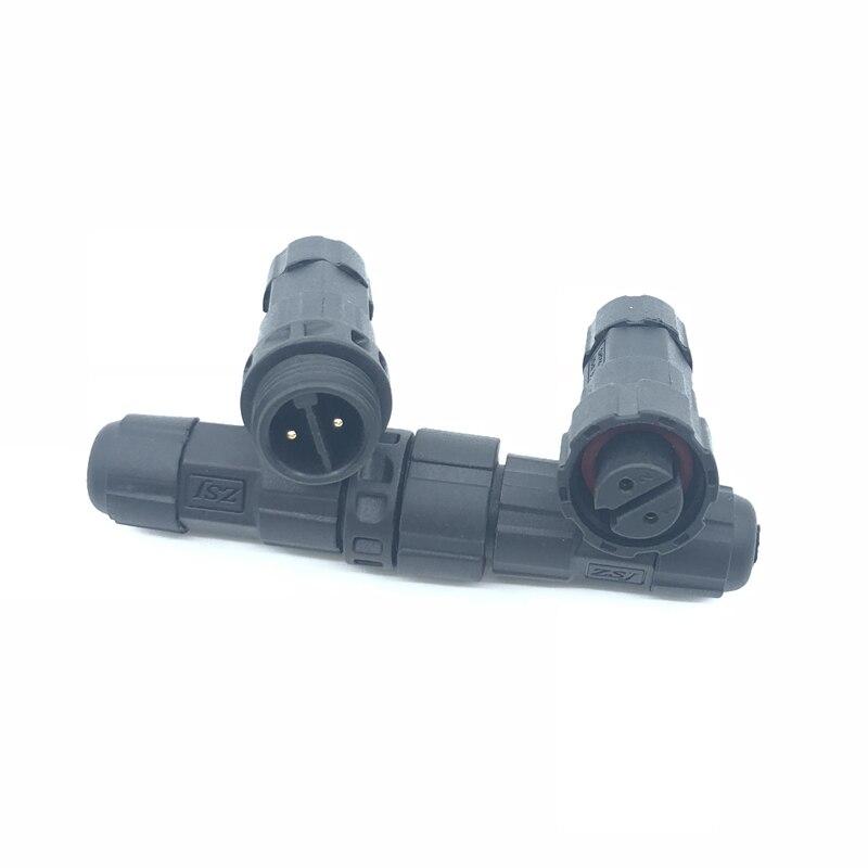 Enchufes macho hembra M16, Conector de Cable eléctrico impermeable ensamblado, conectores de zócalo 2 3 4 5 6 7 8 9 10 12 pines IP68