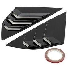 Подходит для F o r d F o c u s ST RS хэтчбек яркий черный окна боковые жалюзи вентиляционные 2012 2013 ABS