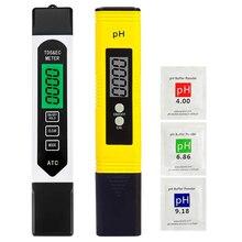 Тестер качества воды 2 в 1 Набор, PH& TDS тестер воды, 0-9990 PPM, EC и измерение температуры