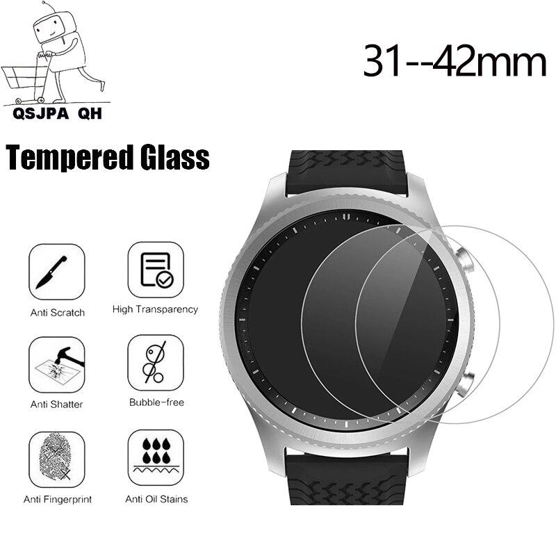 Защитное стекло для смарт-часов, стекло для защиты экрана из закаленного стекла, 30 31 32 33 34 35 36 37 38 39 40 41 42 мм, 5 шт.