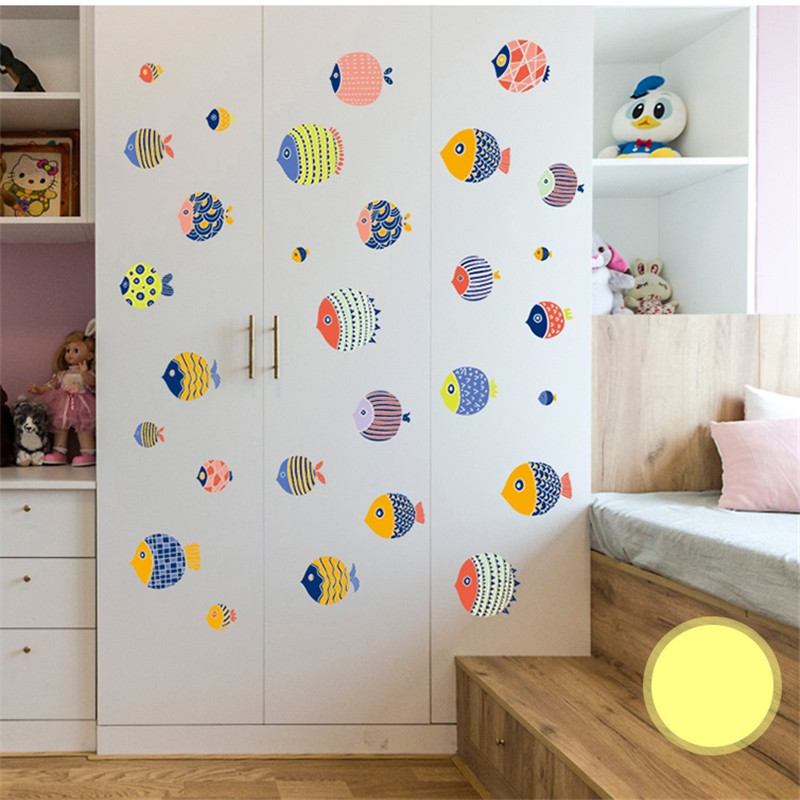 Creative European Children/'s Room Geometric Wall Decal Wardrobe Chest Drawers Background Stickers Wall Art Sticker Decals DIY Removable