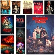 Strange story TV poster, illustration poster, retro poster, Kraft decorative painting, poster decoration season 3 цена 2017