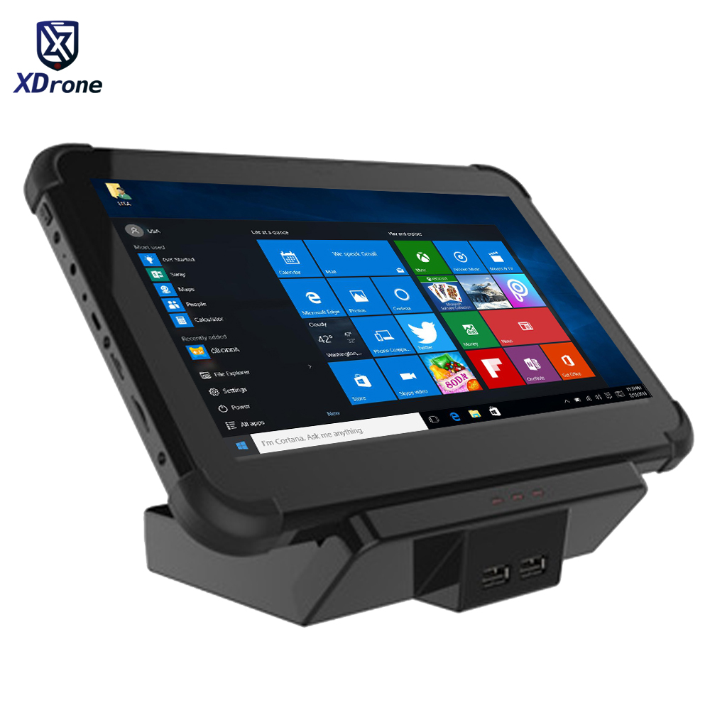2020 POS Tablet PC Terminal System Windows 10 58mm Receipt Printer 10.1 Touch Screen Bluetooth WIFI USB RS232 Dual Screen Dock