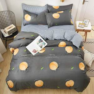 Image 3 - Bedding Set Fashion house  luxury bed cover sheet Pillowcase Wavy stripes Home textile  Family Bed Linens  High Quality