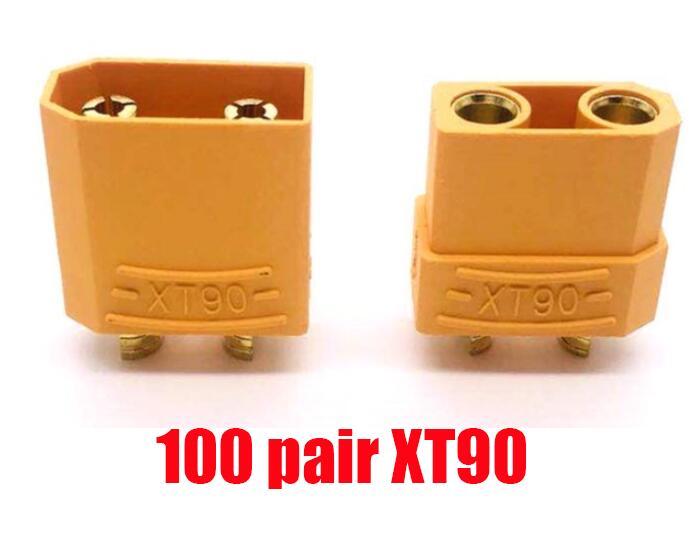 100 пар, высокое качество, XT60 XT-60 XT 60 XT30 XT90, штепсельная вилка, штепсельная Вилка для RC Lipo батареи,, Прямая поставка - Цвет: 100 pair XT90