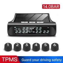 3.5/8/9 Bar sistema di monitoraggio della pressione dei pneumatici TPMS solare sensore esterno pressione dei pneumatici Monitor di allarme per auto in tempo reale per camion
