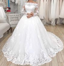 Sexy Women Simple Vintage Abito Da Sposa 2019 Wedding Gowns Dress Plus Size