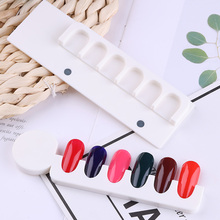 6 False Tips Nail Gel Polish Color Display Chart Acrylic Magnetic Rack Stand Showing Shelf Card