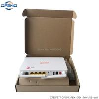 40Pcs ZTE GPON ONU ZTE F677 Fiber Optic Router 3FE+1GE+1Tel+USB+Wifi New same function ZTE F663N, Without BOX and Power Plug