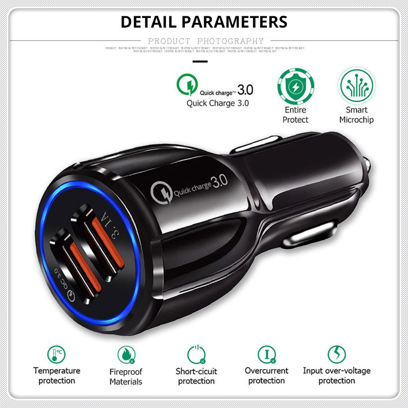 3.0 Car Charger Socket Adapter Dual USB Port for Nissan NV200 Nuvu NV2500 Forum Denki 350Z Zaroot March Murano TIIDA image