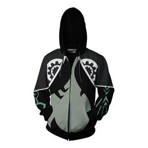 Image 4 - Cosplaydiy Game The Legend of Zelda Cosplay Zipper Hoodies Jacket The Legend of Zelda Midna Casual Hoodies Top Coat L320