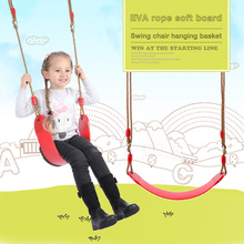 Children Boy Girl Outdoor Garden Tree Swing Rope Seat For Kids Color EVA Soft Board U-shaped Swing Kindergarten Playground Swing cheap CN(Origin) 4-6y 7-12y 12+y In-Stock Items 0529955 Keep away from fire Kids Outdoor Funny Toys