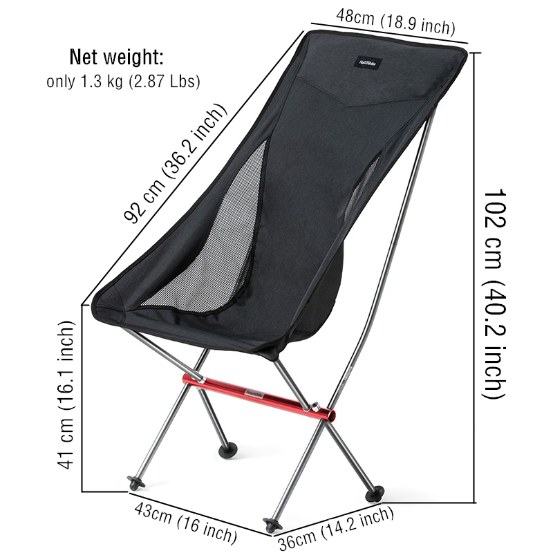 On Sale Beach Chair Fishing Camping Ultralight Folding Chair Outdoor Furniture 7075 Al Oxford Fabric Max 150kg Moon Chair