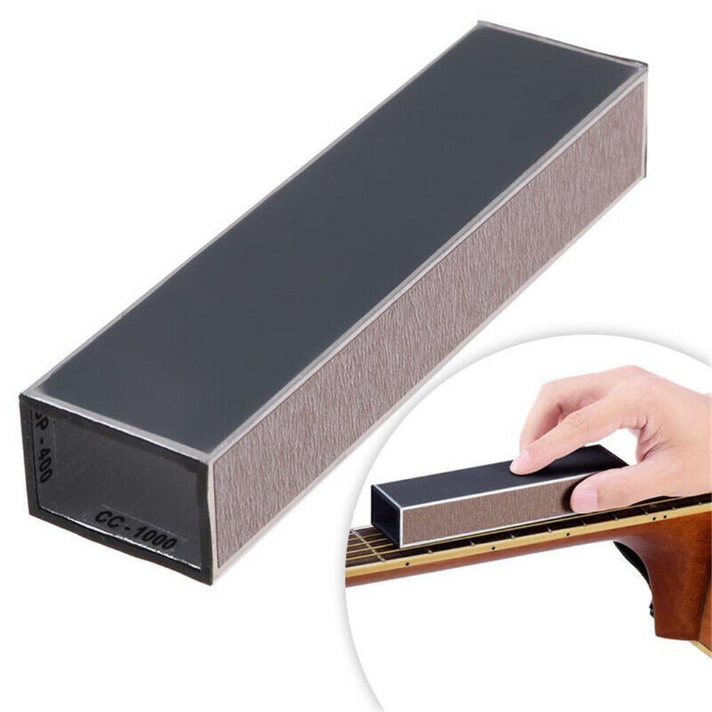 Guitarra traste nivelamento arquivo com auto-adesivo lixa luthier ferramenta para guitarra elétrica acústica baixo fretboard kit de reparo