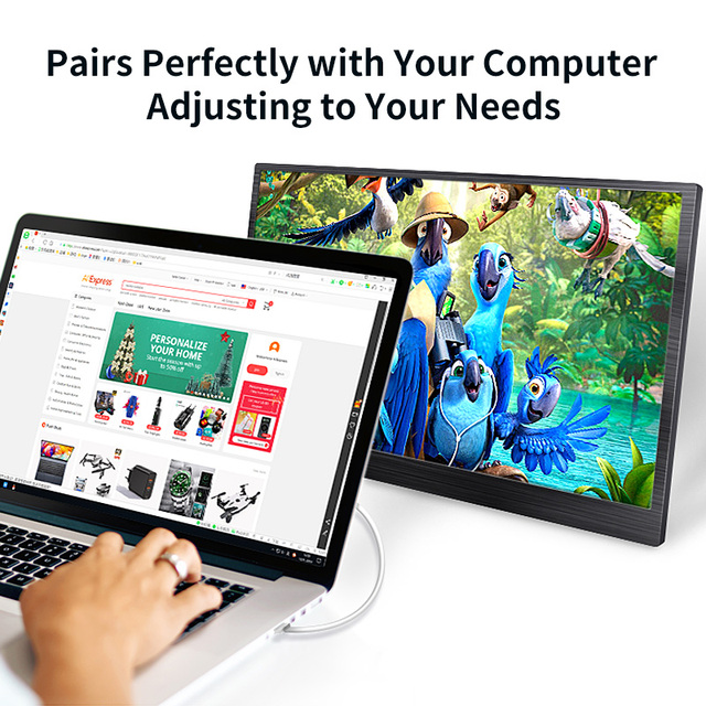 4K 15.6 Portable Monitor IPS LCD Screen 3840x2160 UHD for PC Computer Laptop Monitor Gaming Xbox Ps4 Display HDMI DP with case 5