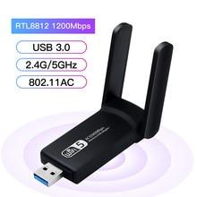 1200 Мбит/с USB WiFi адаптер Dual Band Беспроводной сети Lan Карта Wi-Fi приемник 802.11ac Wi-Fi внешний для рабочего стола