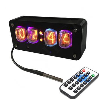 Byłego związku radzieckiego IN12 lampy jarzeniowej zegar fantazyjne Glow zegar 4-bit zintegrowany Glow zegar przełącznik indukcyjny pilot zdalnego sterowania tanie i dobre opinie Zegary biurkowe Plac DIGITAL