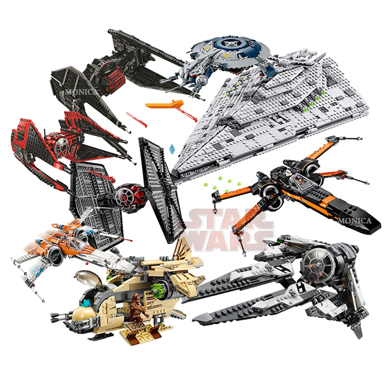 New Spaceship Major Vonreg's TIE Fighter X Wing Starfighterd Set Compatible With Lepining StarWars Building Block Bricks Toys