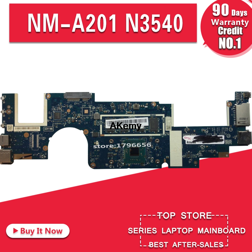 AIUU1 NM-A201 Motherboard For Lenovo Yoga2 11 YOGA 2 11 Laptop Motherboard  N3540 CPU 4G RAM DDR3 100% Test Work