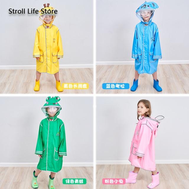 Cartoon Yellow Kids Raincoat Long Rain Poncho Waterproof Suit Rain Coat Jacket Boys and Girls Windbreaker Impermeable Gift Ideas 3