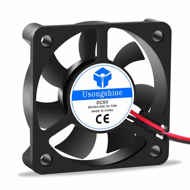 DC 5010 5 В/12 В/24 В компьютерный кулер для процессора мини вентилятор охлаждения 50 мм 50x50x10 мм маленький вытяжной вентилятор для 3D принтера 2 pin 4010 вентилятор