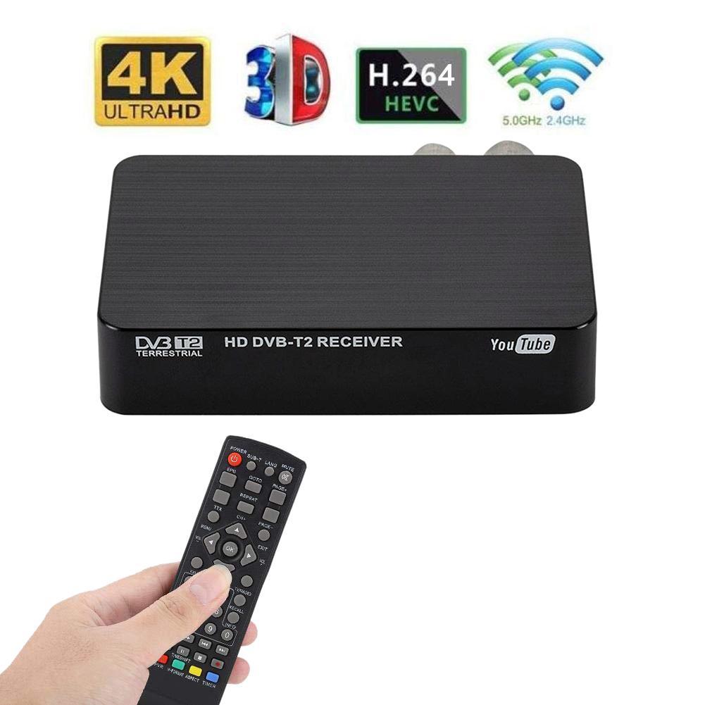 4K Ultra HD 1080P numérique DVB-T2 TV boîte Mini multifonctionnel TV récepteur décodeur lecteur multimédia pour PVR timehift