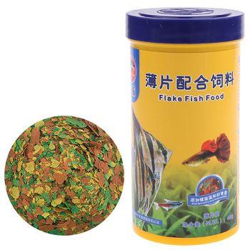 цена на 250ml Ornamental Fish Food Goldfish Carp Guppies Small Medium Tropical Fishes Flakes Feed Aquarium Accessories