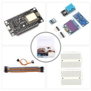 ESP8266 Погодная станция комплект с DHT11 Температура Влажность/атмосферное Давление/светильник Сенсор OLED Дисплей модуль|Приборы для измерения температуры|   | АлиЭкспресс