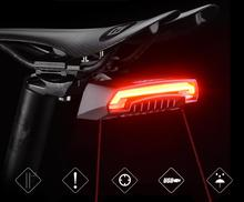 цена на ROCKBROS USB Rechargeable Bike Light LED Warning Rear Lights Bicycle Light Cycling Smart Wireless Remote Control Turn Signal