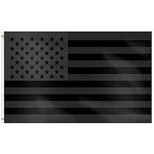 Xiangying 90x150cm toda a bandeira americana preta dos eua bandeira preta