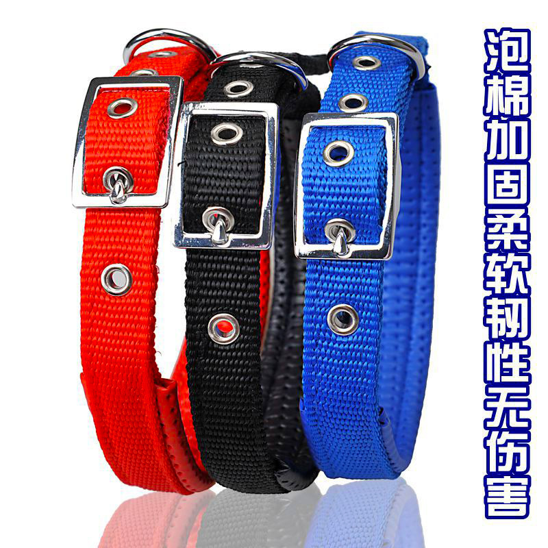 Comfortable Foam Nylon Single Neck Ring Dog Pet Items Neck Chrome-Plated Buckle Delicacy Hand Home Order SH