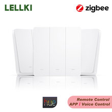 ZigBee Smart Light Switch 10A EU Wall Button Switches Wireless Remote Control Smart Home Works Hue Alexa