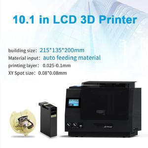 Image 2 - ビッグサイズ 10.1 インチ自動材料系液晶 3d プリンタジュエリー液晶/sla/dlp 湾曲 3d プリンタのための歯科