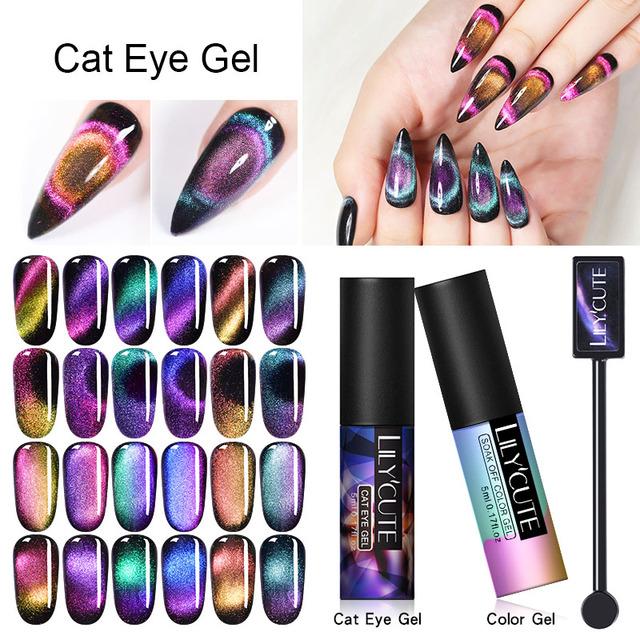 LILYCUTE 5ml 9D Auroras Cat Eye UV Gel