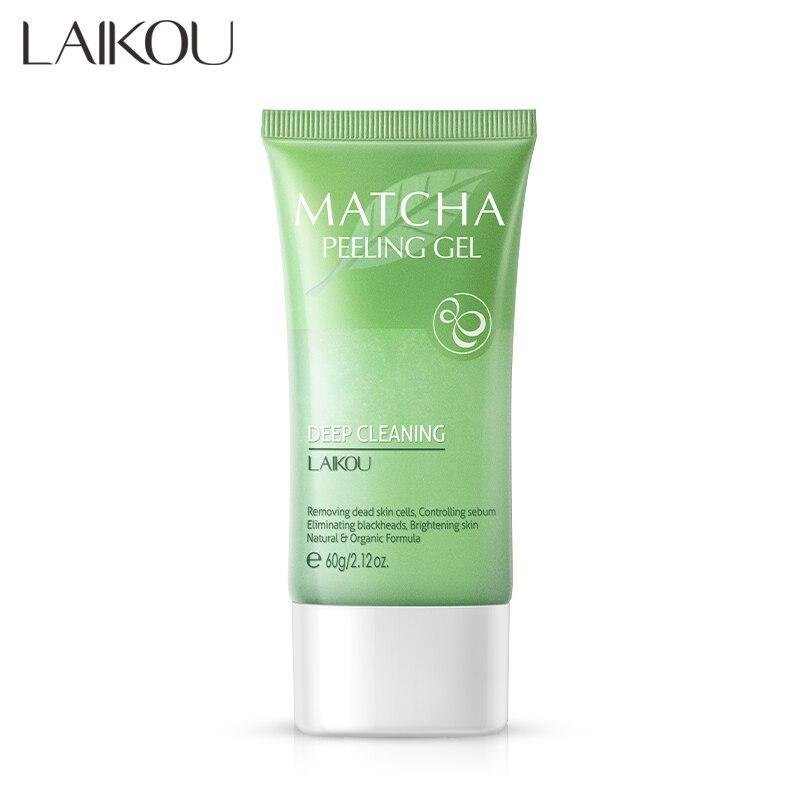 Facial Exfoliating Deep Cleansing Matcha Peeling Gel Exfoliating Cream Whitening Exfoliante Face Cream Scrub Deep Pore Removal