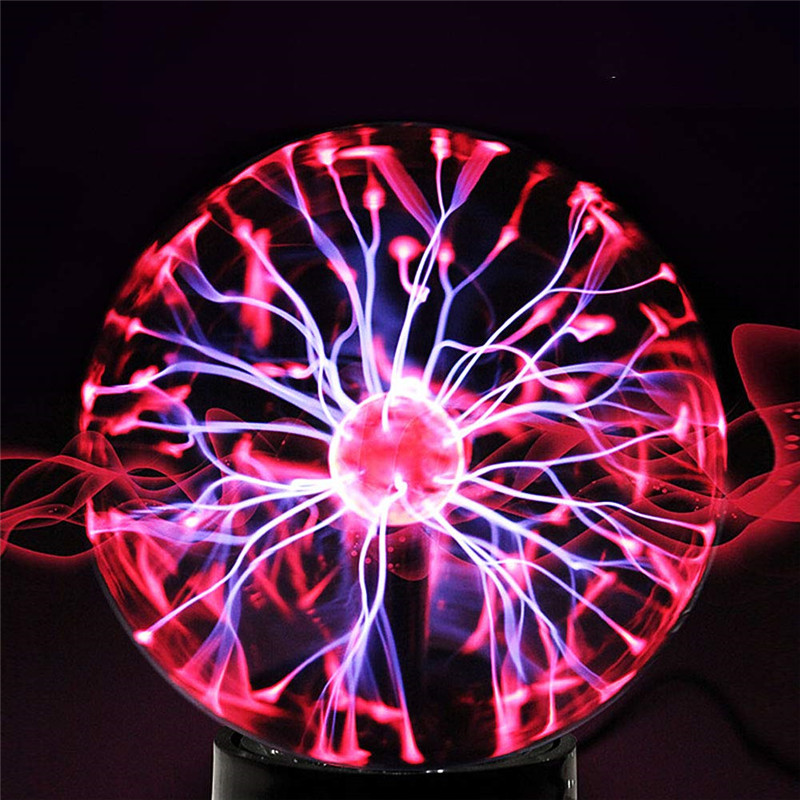 Crystal Glass Plasma Ball 3/4/5/6/8 Inch Night Light Magic Glass Sphere Novelty Lightning Ball Light Plasma Table Lamp For Gift