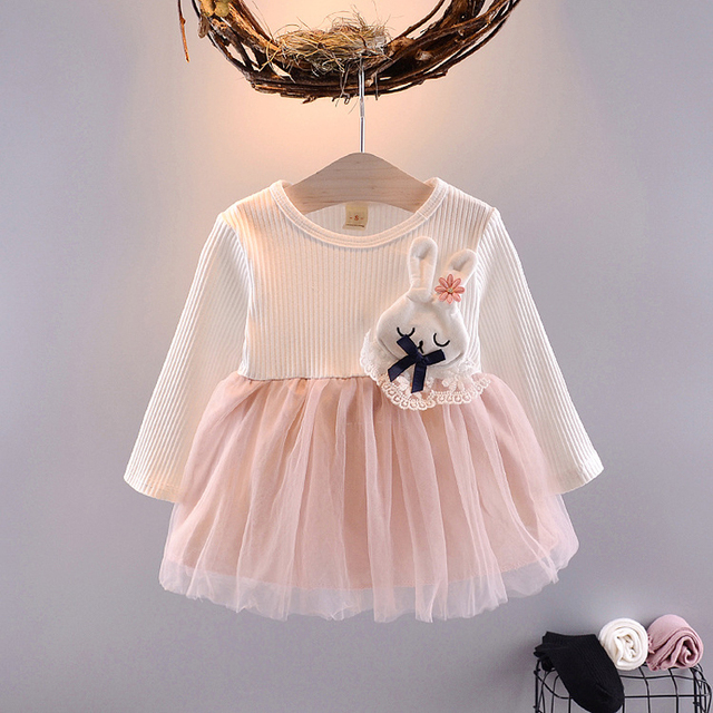 Autumn Newborn infant Baby Dress Cotton Toddler Dress Pineapple Yarn Party Dresses for Girls Fashion Baby Girl Clothes