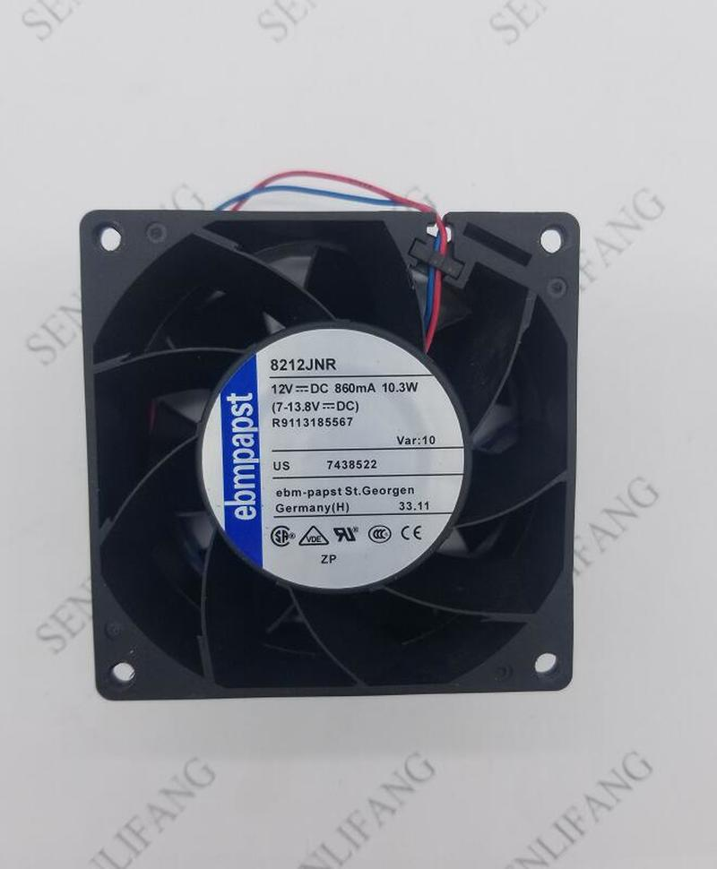 Free Shipping For 8212JNR 8212 JNR DC 12V 10.3W 80x80mm Server Square Cooling Fan 2-wire